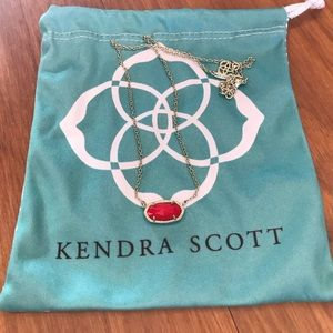 Kendra Scott Gold Necklace with Red